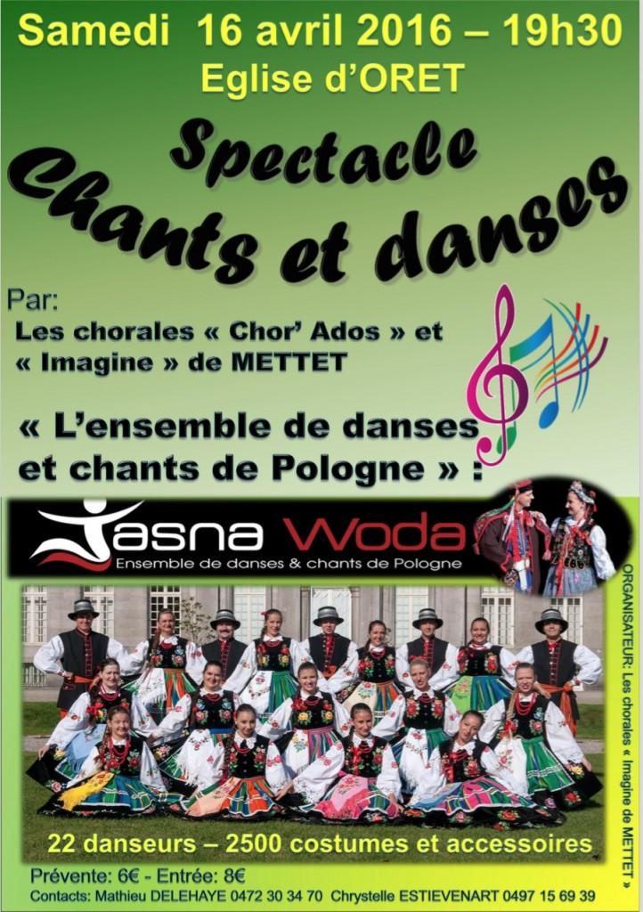 Affiche concert Oret 16-04-2016